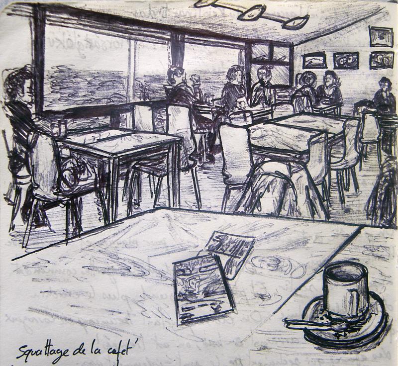 Dessin de la Cafeteria du Centre de Skaftafell, Islande © L\'Oeil d\'Édouard