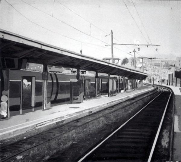 Peinture - Quais de la gare d'Annecy © L'Oeil d'Édouard