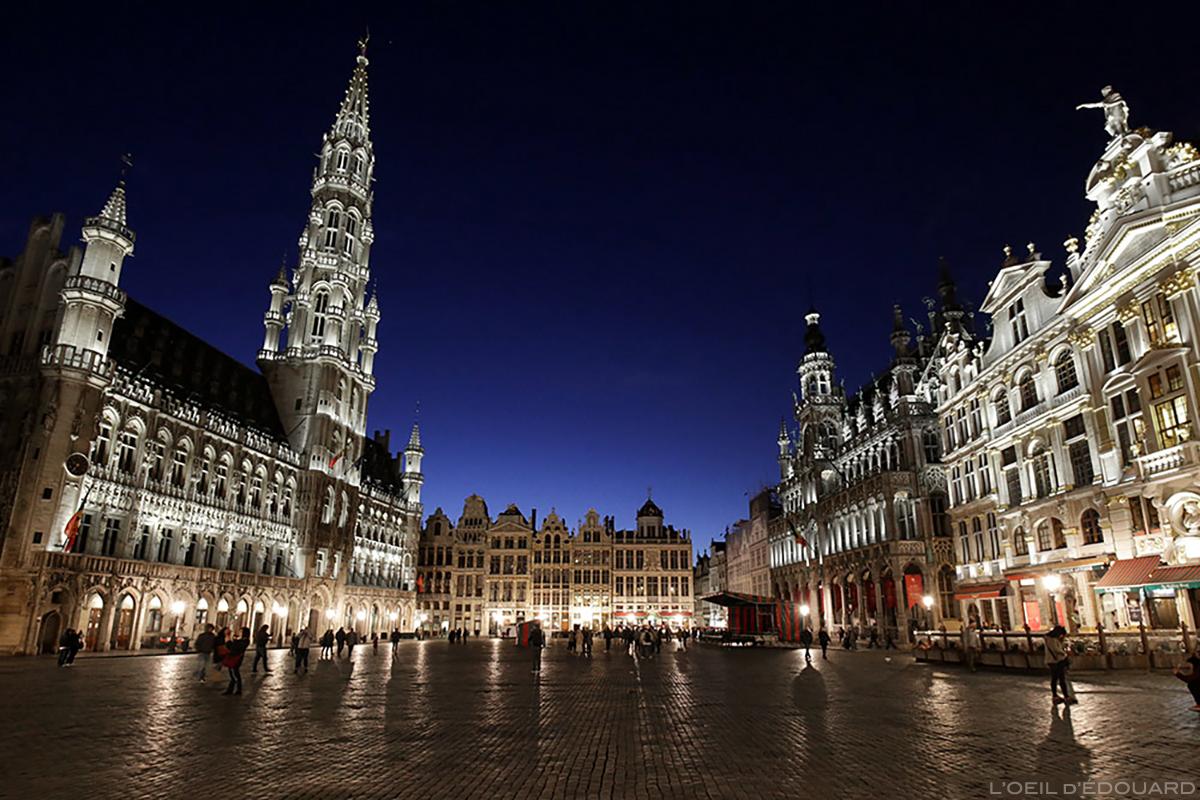 Grand Place de Bruxelles, le soir