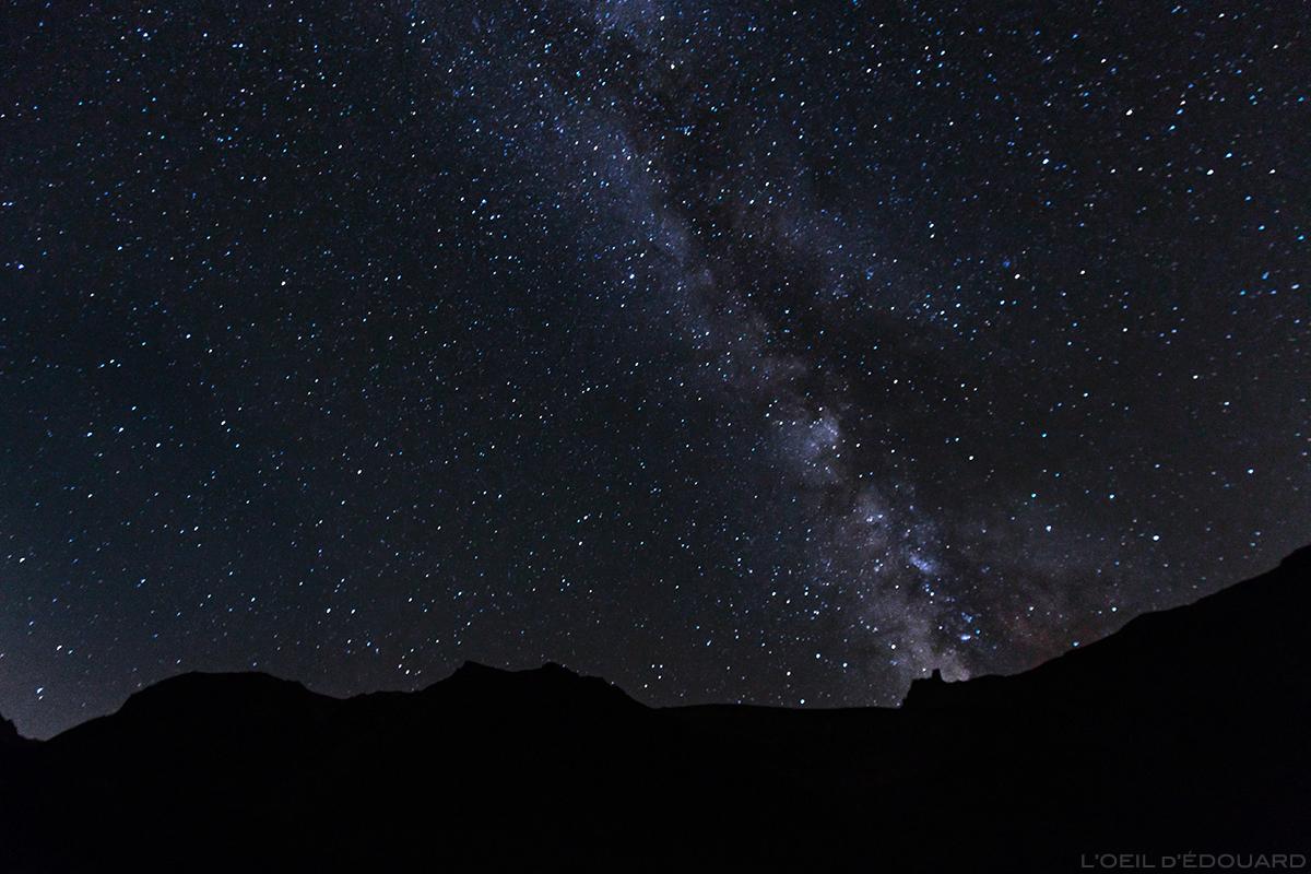 Nuit étoilée et voie lactée, Massif des Cerces