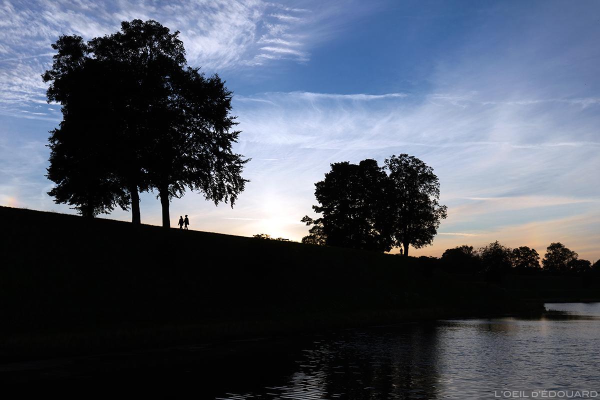 Promenade au coucher de soleil à Kastellet, Copenhague