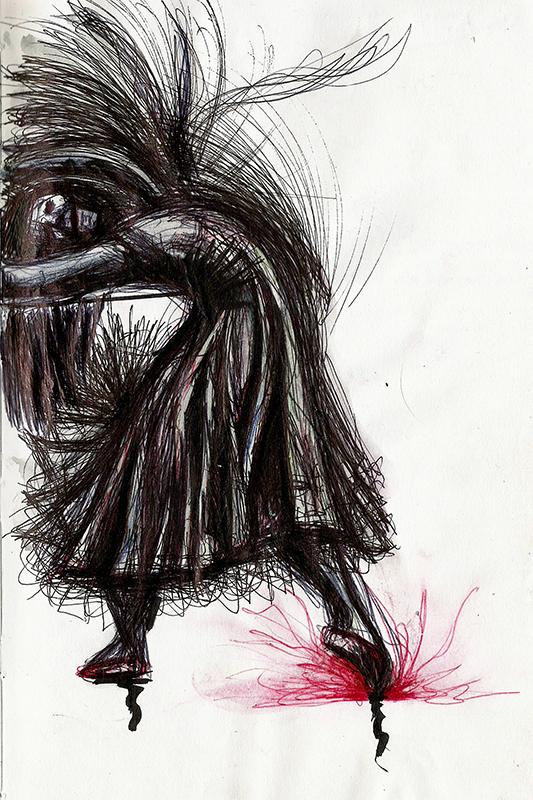 Dessin - Danse la Mort © L\'Oeil d\'Édouard