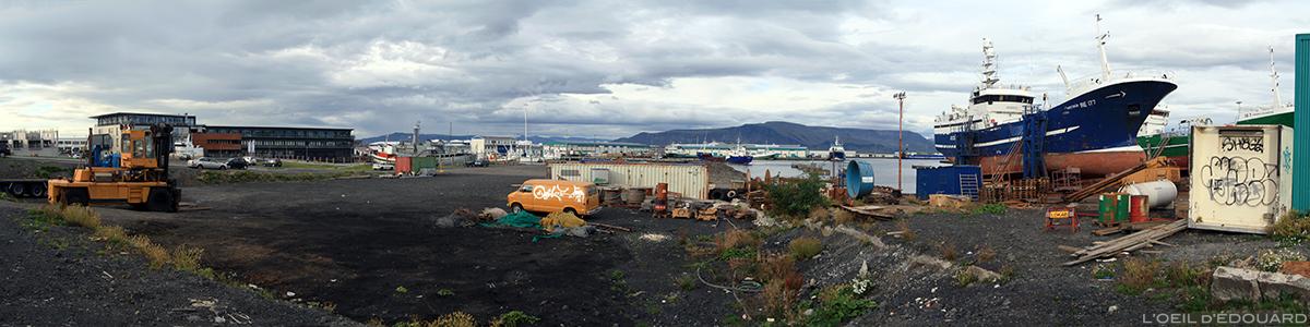 Port de Reykjavik, Islande