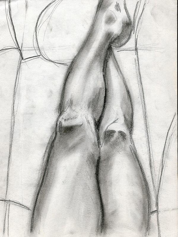Dessin - Étude de jambes © L'Oeil d'Édouard