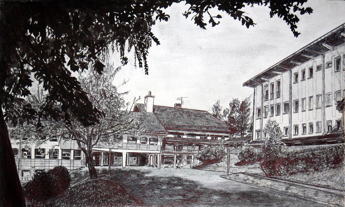 Dessin - Collège Le Châtelard, Massif des Bauges, Savoie © L\'Oeil d\'Édouard