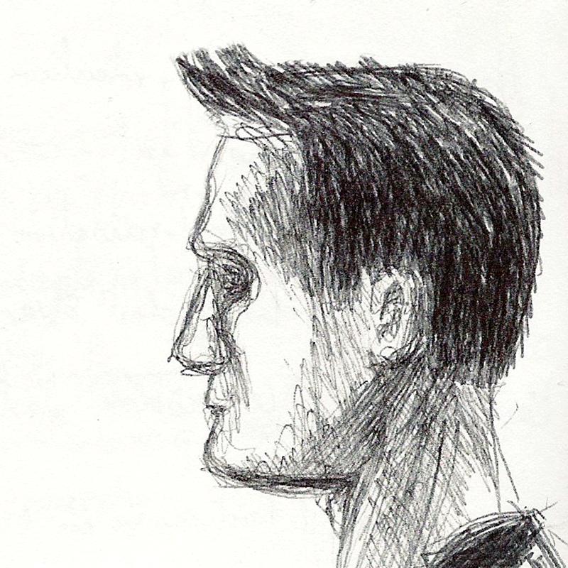 Dessin - Portrait d\'un jeune homme de profil © L\'Oeil d\'Édouard