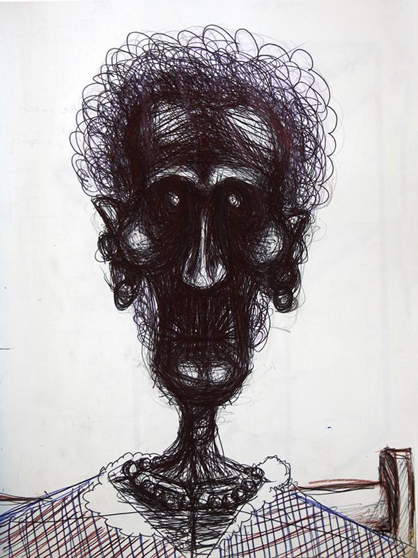 Dessin - Portrait d\'une vieille © L\'Oeil d\'Édouard