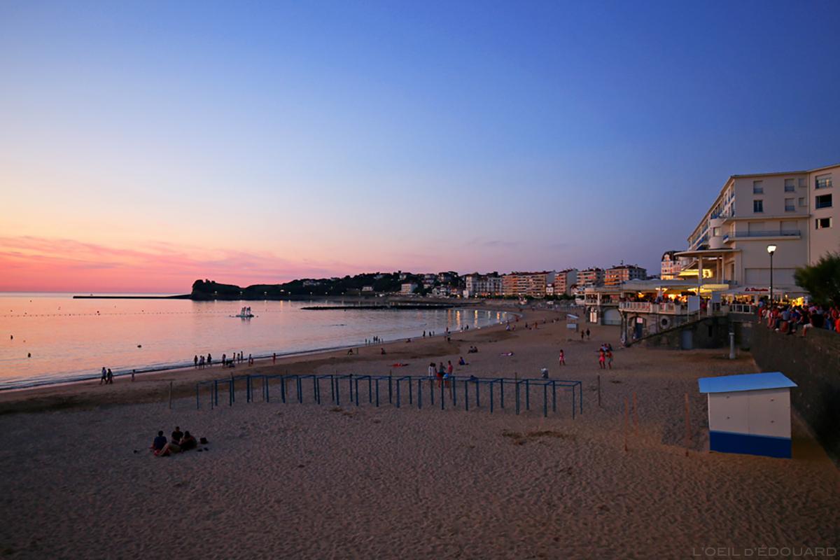 Crépuscule sur la plage, Saint-Jean-de-Luz