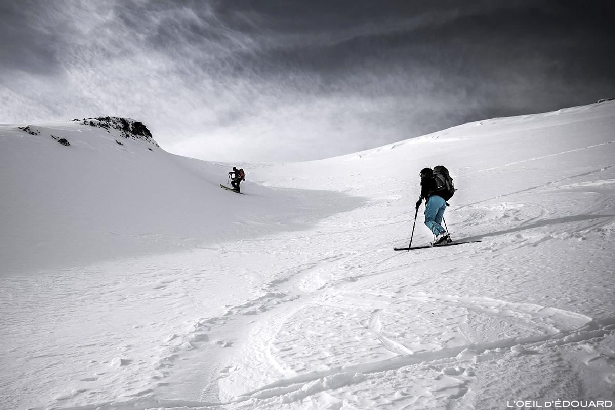 Ski de randonnée au Col de la Valette, Massif de la Lauzière © L'Oeil d'Édouard - Tous droits réservés