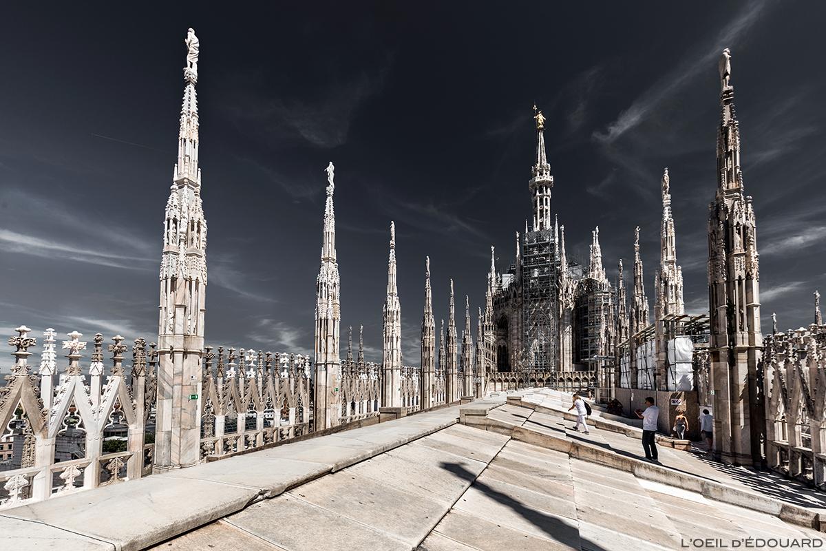 Toit Terrasse au sommet de la Cathédrale de Milan - Terrazza Duomo di Milano Terraces © L'Oeil d'Édouard - Tous droits réservés