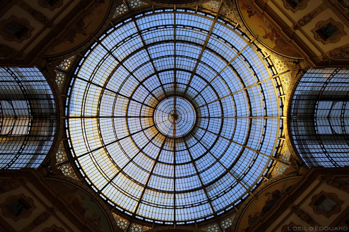Verrière de la Galleria Vittorio Emanuele II de Milan © L'Oeil d'Édouard - Tous droits réservés