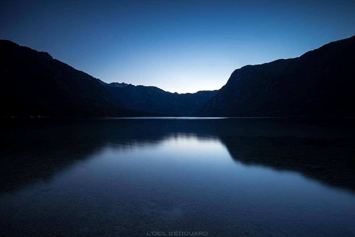 Crépuscule sur le Lac de Bohinj, Slovénie - Bohinjsko jezero, Slovenia © L'Oeil d'Édouard