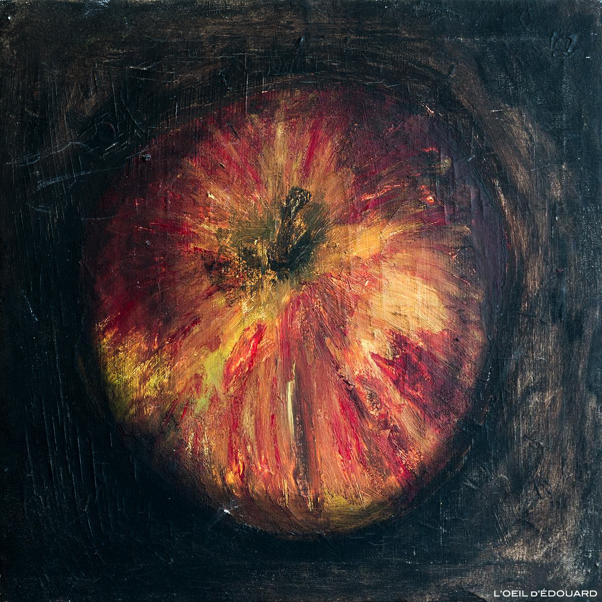 Peinture Nature nature à la pomme © L'Oeil d'Édouard