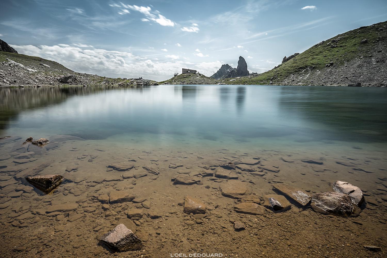 Le Lac de Presset avec le refuge et la Pierra Menta, Beaufortain © L'Oeil d'Édouard - Tous droits réservés