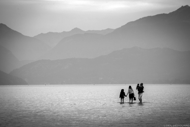 Lac d\'Annecy (niveau bas, octobre 2018) © L\'Oeil d\'Édouard - Tous droits réservés