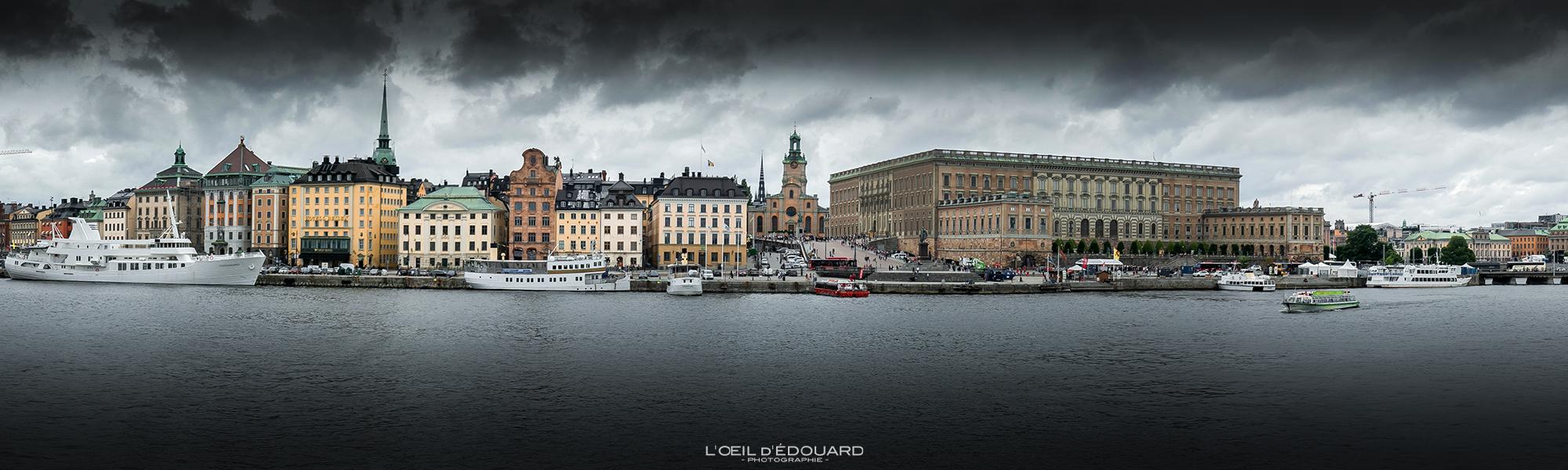 Île de Gamla Stan Stockholm Suède Sweden Sverige © L'Oeil d'Édouard - Tous droits réservés