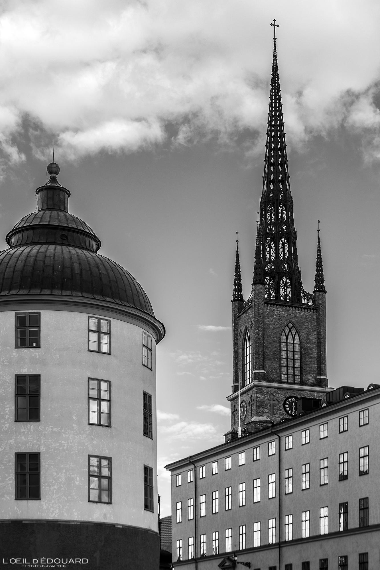 Eglise Riddarholmskyrkan Riddarholmen Stockholm Suède Sweden architecture church Sverige © L'Oeil d'Édouard - Tous droits réservés